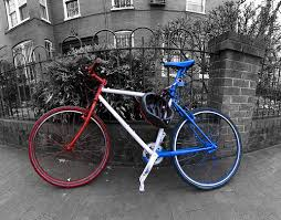 red white blue bike
